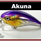 "[BP 52-82]2.2"""" Holographic Fuchsia Bass Pike Trout Fishing Lure"