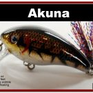 "[BP 52-88]2.2"""" New Holographic Brown Bass Pike Trout Fishing Lure"