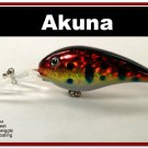 "[BP 55-81]4.3"""" Holographic Red Leopard Pike Trout Fishing Lure Crankbait"