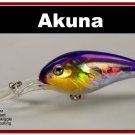"[BP 55-82]4.3"""" Holographic Fuchsia Bass Pike Trout Fishing Lure Crankbait"