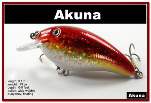 """[BP 56-84]3.1"""""""" Holographic Red Bass Pike Trout FAT Fishing Lure"""