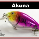 "[BP 56-87]3.1"""" Holographic Purple Bass Pike FAT Fishing Lure Bait"