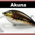 "[BP 56-88]3.1"""" Holographic Brown Bass Pike Trout FAT Fishing Lure"