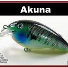 """[BP 56-97]3.1"""""""" Bluegill Bass Pike Trout FAT Fishing Lure Tackle"""