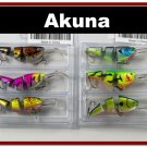 [BP 6PK 3FLA20A and 3FLA20C]6 Pack Bass Trout Pike Fishing Lure Swimbait Tackle C