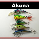 [BP BT 5 Mixed A]Mixed 5 fishing lure baits tackle for bass trout