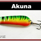 "[SP  02-21]3"""" Firetiger Bass Pike Trout Casting Spoon Fishing Lure"