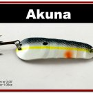 "[SP  02-27]3"""" Chartreuse Shad Bass Pike Trout Spoon Fishing Lure"