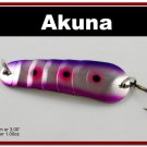 "[SP  02-29]3"""" Purple Rain Bass Pike Trout Spoon Fishing Lure Bait"