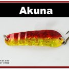 "[SP  02-84]3"""" Holographic Red Bass Pike Trout Spoon Fishing Lure"