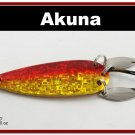 "[SP  10-84]3"""" Holographic Red Bass Pike Trout Spoon Fishing Lure"