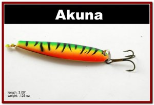 "[SP  15-21]3"""" Firetiger Bass Pike Trolling Spoon Fishing Lure Bait"