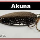 "[SP  68-24]2.4"""" Nickel Bass Pike Hammered Spoon Fishing Lure"