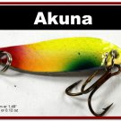 "[SP 14-34-2]1.5"""" Mini Holographic Chartreuse Bass Pike Trout Casting Spoon Fishing Lure"