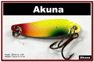 """[SP 14-34-2]1.5"""""""" Mini Holographic Chartreuse Bass Pike Trout Casting Spoon Fishing Lure"""