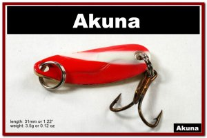 "[SP 39-20-2]1.2"""" Mini White Stripe Bass Pike Trout Casting Spoon Fishing Lure"