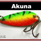 "[SP 42-21-2]1.3"""" Mini Firetiger Bass Pike Trout Casting Spoon Fishing Lure"