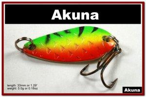 "[SP 42-21-2]1.3"""" Mini Firetiger Bass Pike Trout Casting Spoon Fishing Lure"