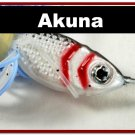 [SPU 02]3/8 oz 10.6 grams Elite White Blue Spinnerbait Fishing Lure