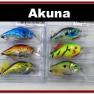 "[BP 6PK 3LKA31A and 3LKA31C]6 Pack 2.9"""" Bass Pike Trout Fishing Lure Bait Tackle C"