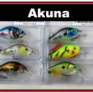 "[BP 6PK 3LKA31A and 3LKA31B]6 Pack 2.9"""" Bass Pike Trout Fishing Lure Bait Crankbait"