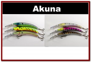"[BP 6PK 3FLA82A and 3FLA82C]6 Pack 5.9"""" Deep Diving Pike Bass Fishing Lure Tackle"