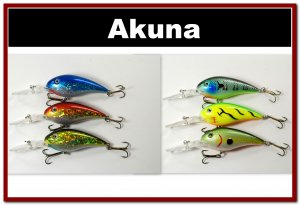 """[BP 6PK 3FLA55A and 3FLA55C]6 Holographic Deep Diver 4.3"""""""" Bass Pike Fishing Lure C"""