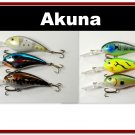 "[BP 6PK 3FLA55A and 3FLA55B]6 Medium Diver 4.3"""" Bass Pike Fishing Lure Bait Tackle"