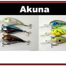 "[BP 6PK 3FLA55A and 3FLA55B]6 Medium Diver 4.3"""" Bass Pike Fishing Lure Bait Tackle"