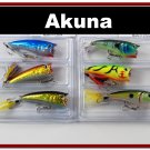 "[BP 6PK 3FLA48A and 3FLA48D]6 Holographic 2.4""""  Bass Topwater Fishing Lure Popper D"