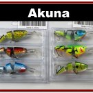 [BP 6PK 3FLA20A and 3FLA20D]6 Pak Holographic Bass Trout Pike Fishing Lure Swimbait