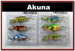 [BP 6PK 3FLA20A and 3FLA20D]6 Pak Holographic Bass Trout Pike Fishing Lure Swimbait