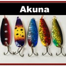 [SP 5 FLC 015 B]Lot of 5 Holographic Trolling Spoon Fishing Lure Tackle