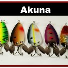 [SP 5 FLC 010 A]Lot of 5 Holographic Spoon  Fishing Lure w/ Side Spoons