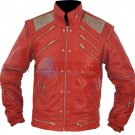 Michael Jackson Beat It Vintage Red Original Leather Jacket
