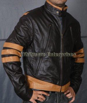 X-Men xmen XO Wolverine Logans Stylish Original Leather Jacket - All Sizes