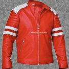 Tyler Durden Brad Pitt Fight Club Red Original Leather Jacket - All Sizes