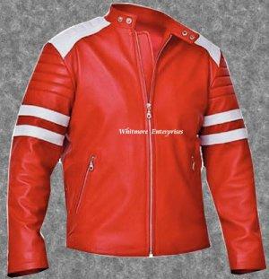 Tyler Durden Brad Pitt Fight Club Red Original Leather Jacket - All Sizes