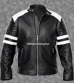 Tyler Durden Brad Pitt Fight Club Black Original Leather Jacket - All Sizes