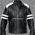 Tyler Durden Brad Pitt Fight Club Black Faux Leather Jacket - All Sizes