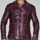 Tyler Durden Brad Pitt Fight Club Brown Stylish Original Leather Coat -  All Sizes