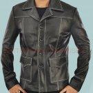 Tyler Durden Brad Pitt Fight Club Black Stylish Original Leather Coat -  All Sizes