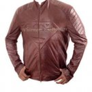 Superman Smallville Stylish Brown Original Leather Embossed Jacket