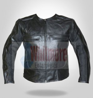 Men Motorcycle MotorBike Biker Stylish Leather Jacket - All Sizes