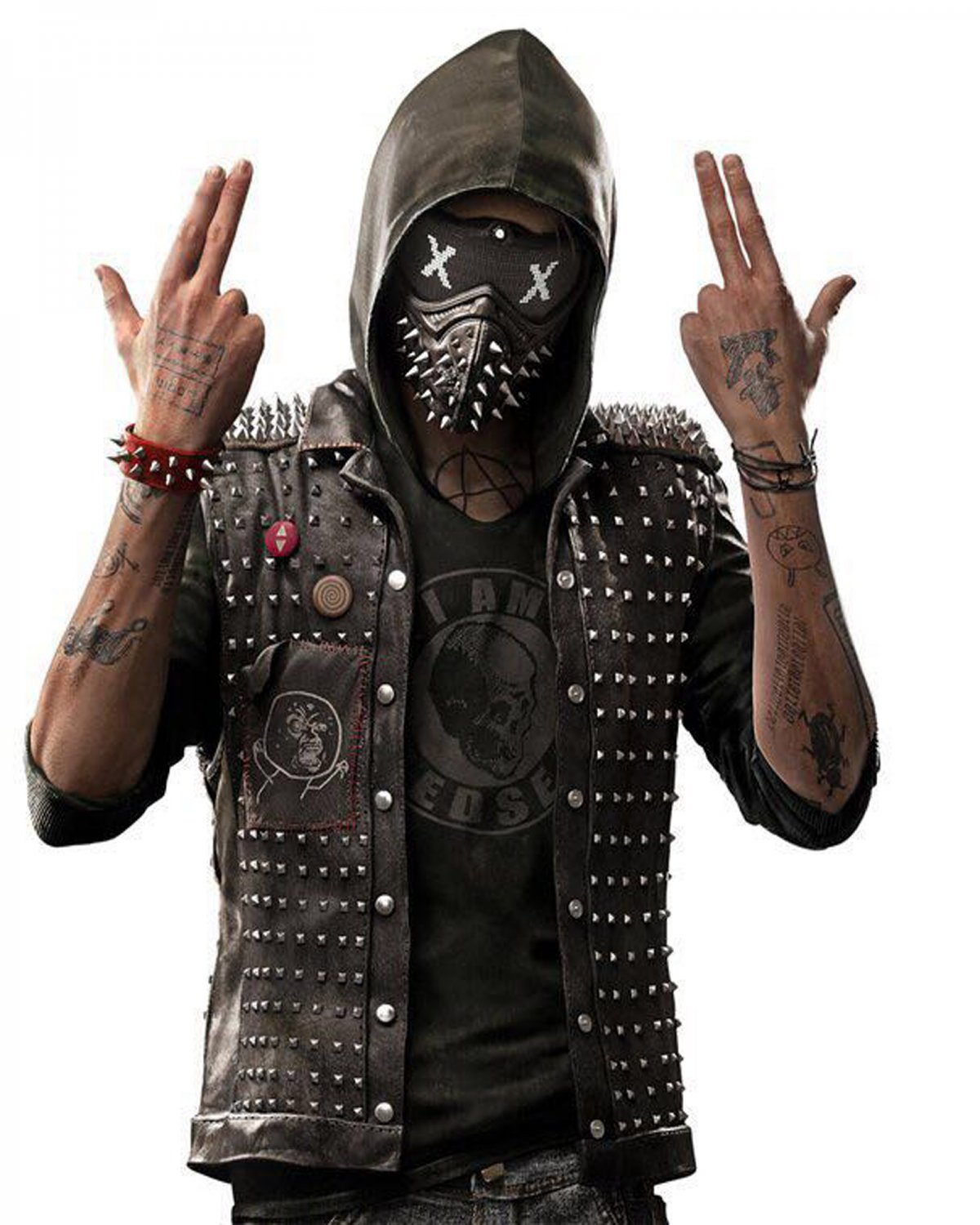Watch Dogs 2 Dedsec Wrench Faux Leather Vest