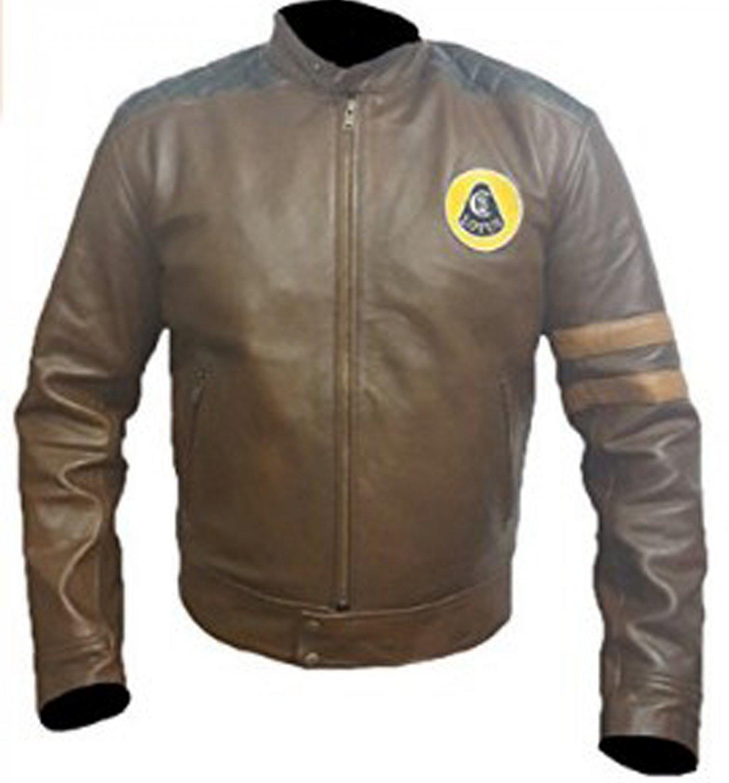 Lotus Racing Brown Leather Jacket