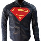Superman Man Of Steel Blue Leather Jacket