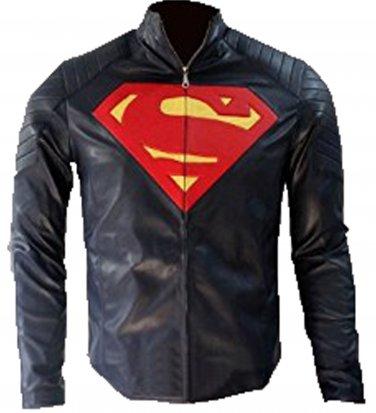 Superman Man Of Steel Blue Leather Jacket