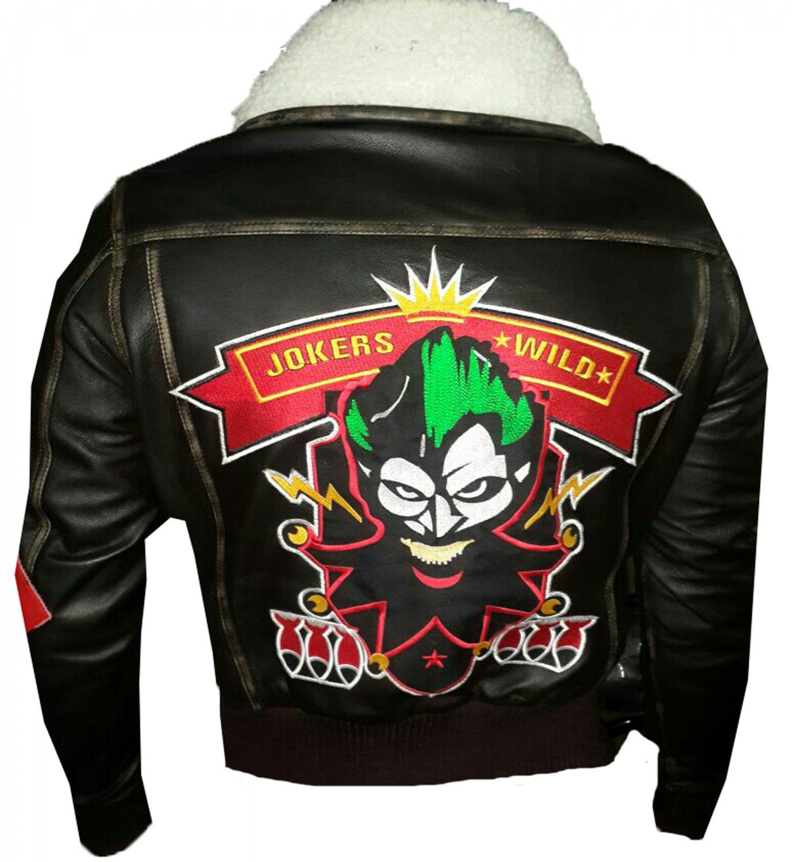 Bombshell Harley Quinn Jokers Wild Brown Leather Jacket