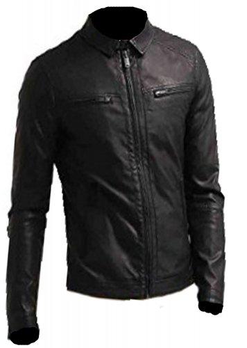 Bomber Rider Slim Fit Casual Stylish Black Leather Jacket